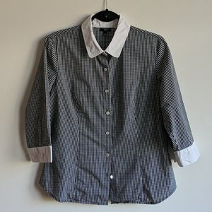 Talbot's petite 3/4 shirt with length sleeves Lg